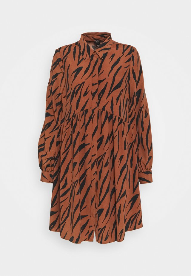 LISA SMOCK DRESS - Blousejurk - brown