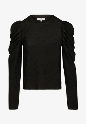 WITH PUFF LONG SLEEVES - Long sleeved top - black