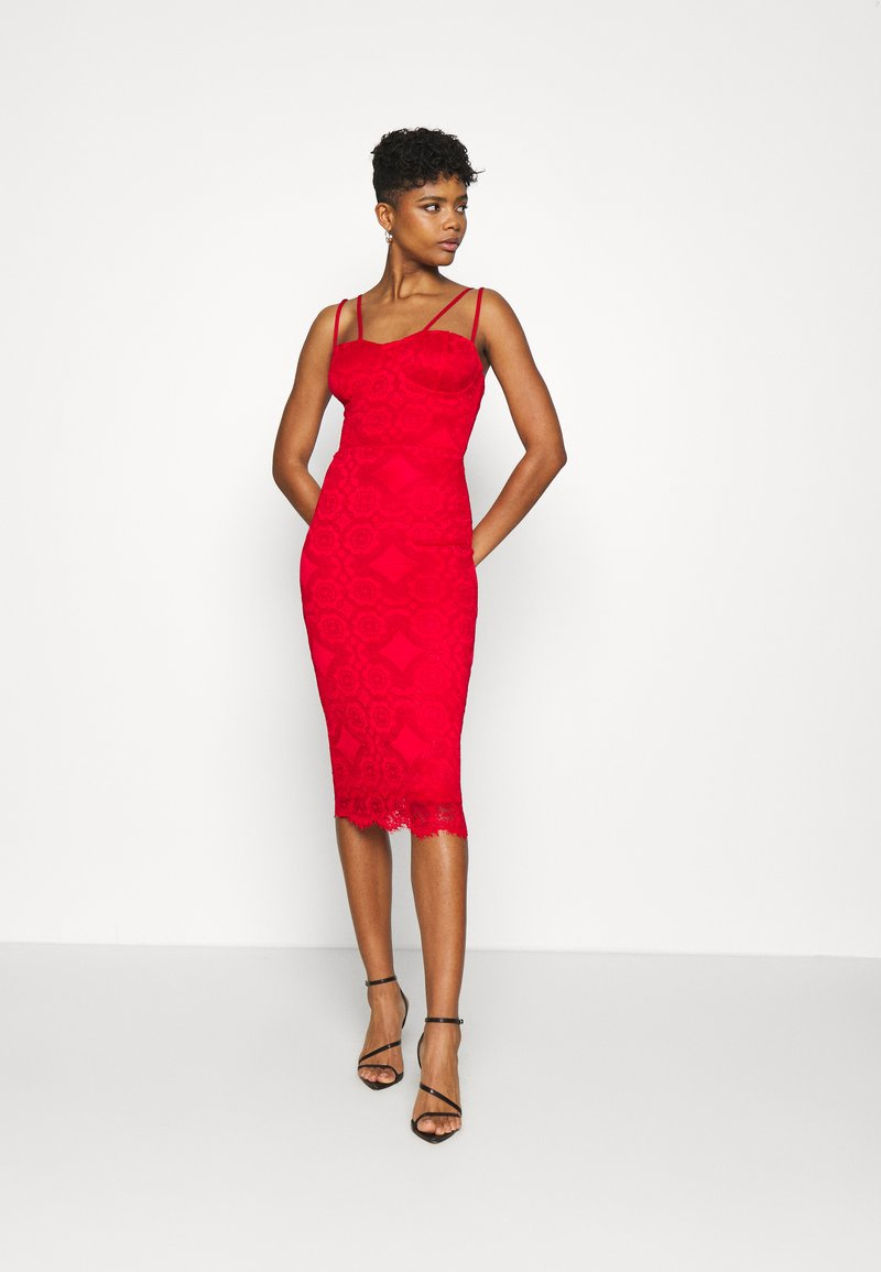 WAL G. - TYLER BODYCON DRESS - Cocktailkjole - red