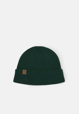 FISHERMEN BEANIE - Berretto - dark bottle green