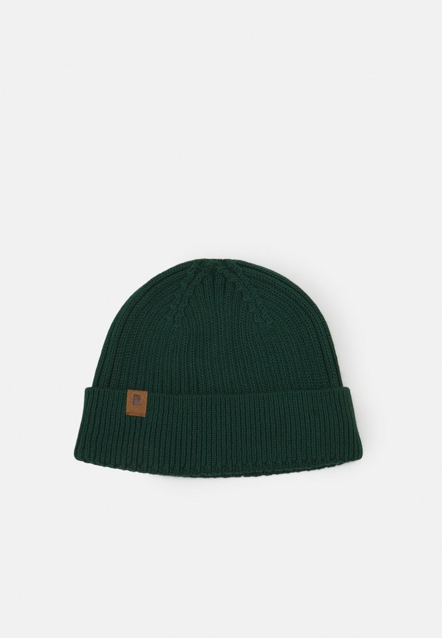 FISHERMEN BEANIE - Lue - dark bottle green