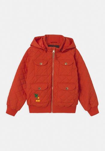 CHERRY HOODED UNISEX - Lehká bunda - red