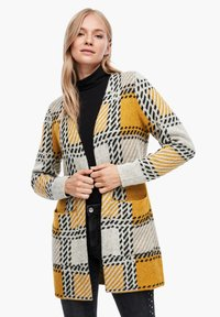 s.Oliver - Cardigan - yellow check - 0