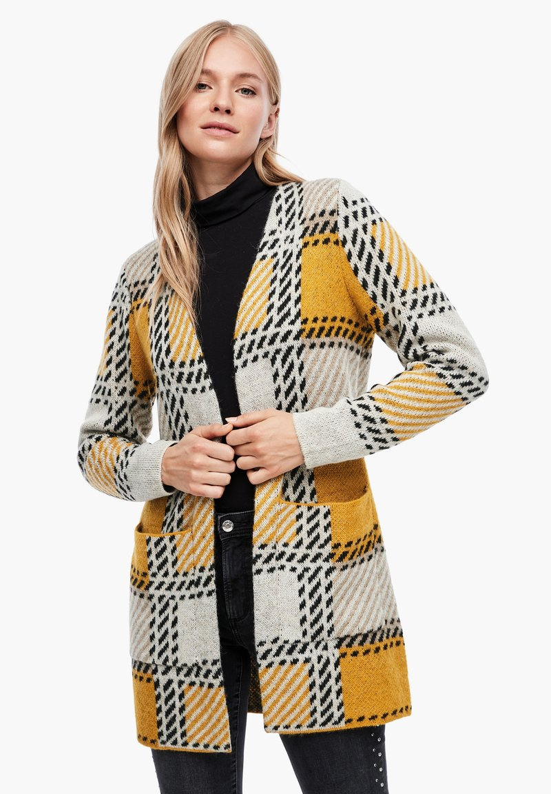 s.Oliver - Cardigan - yellow check