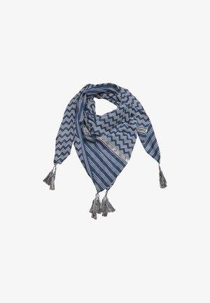 Foulard - blue zic zac stripes