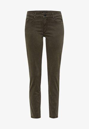 Slim fit jeans - oliv