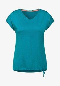 Cecil - MIT SMOK-DETAILS - Basic T-shirt - blau - 3