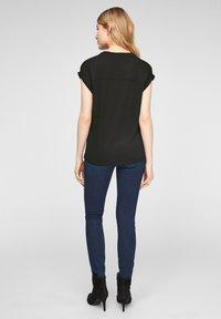 s.Oliver - Print T-shirt - black aop - 2