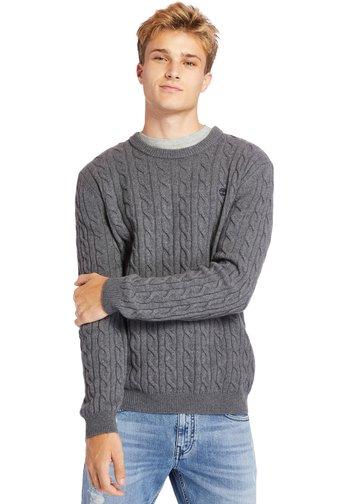 CABLE - Jumper - dark grey heather
