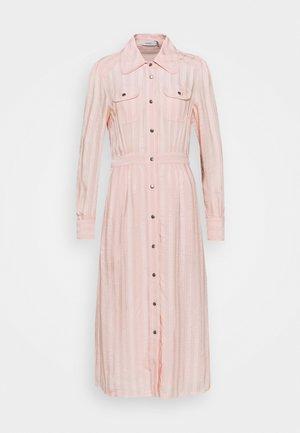 LONG STRIPED DRESS - Robe chemise - cloud pink