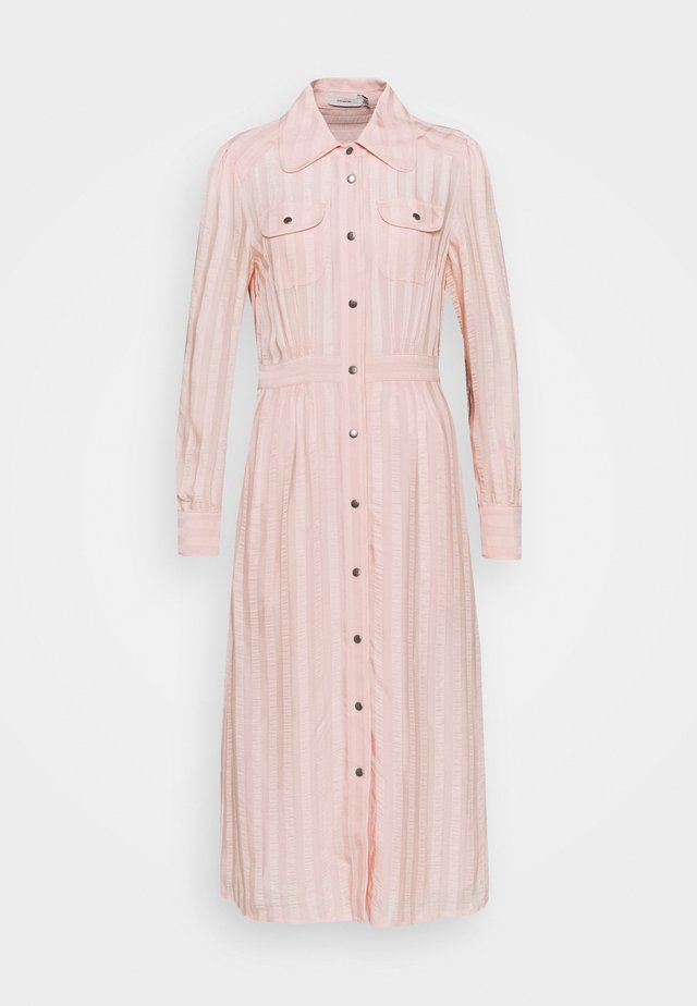 LONG STRIPED DRESS - Robe chemise - cloud pink