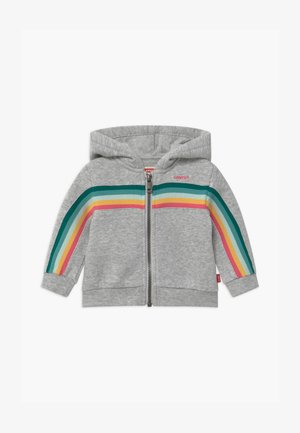 FULL ZIP HOODIE - Zip-up hoodie - light gray