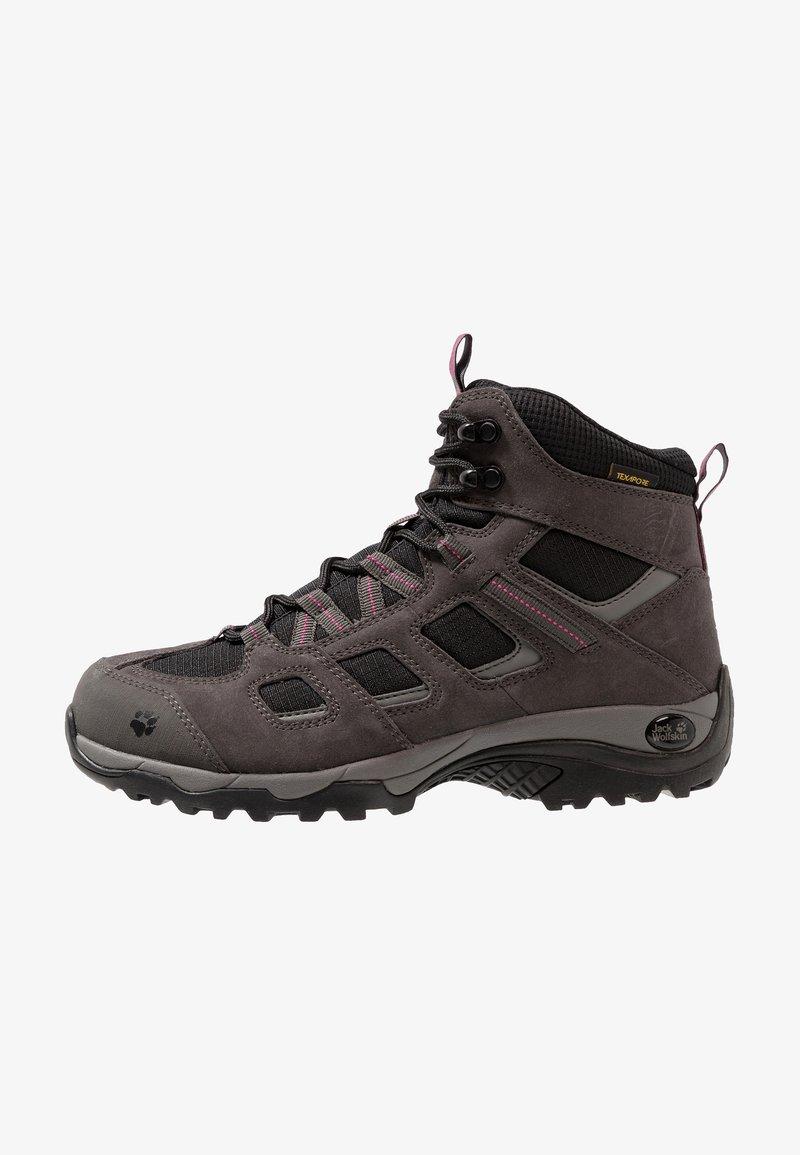 Jack Wolfskin - VOJO HIKE 2 TEXAPORE MID - Hiking shoes - dark steel/black