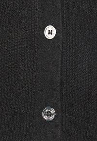 Calvin Klein - SHORT BUTTON UP FLUFFY  - Cardigan - black - 2