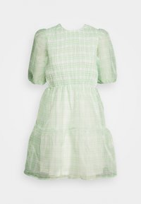 Missguided - PUFF SKATER DRESS  - Cocktailkjoler / festkjoler - green - 0