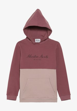ADVENTURE AWAITS HOODIE - Bluza z kapturem - renaissance rose/adobe rose