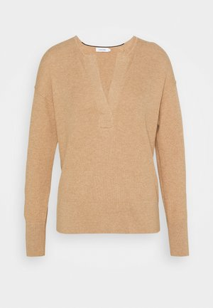 OPEN NECK - Jumper - countryside khaki