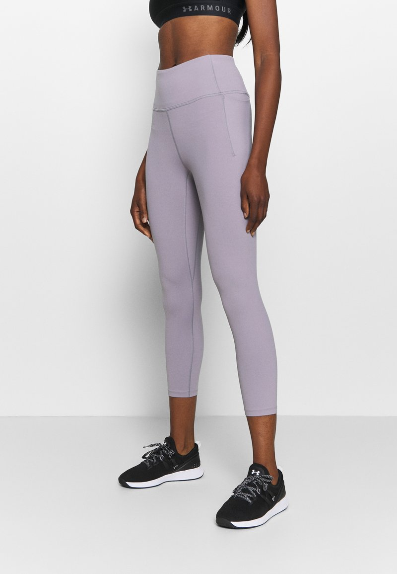Under Armour - MERIDIAN CROP - Medias - slate purple