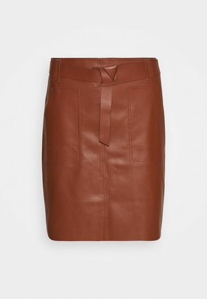 SKIRT FANCY WAISTBELT - Mini skirt - brown