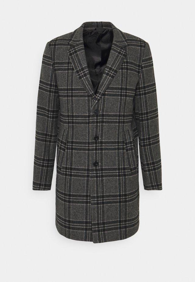 JPRBLAMOULDER CHECK - Płaszcz wełniany /Płaszcz klasyczny - dark grey melange