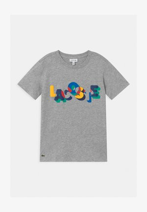 TURTLE NECK - Print T-shirt - argent/multicolor