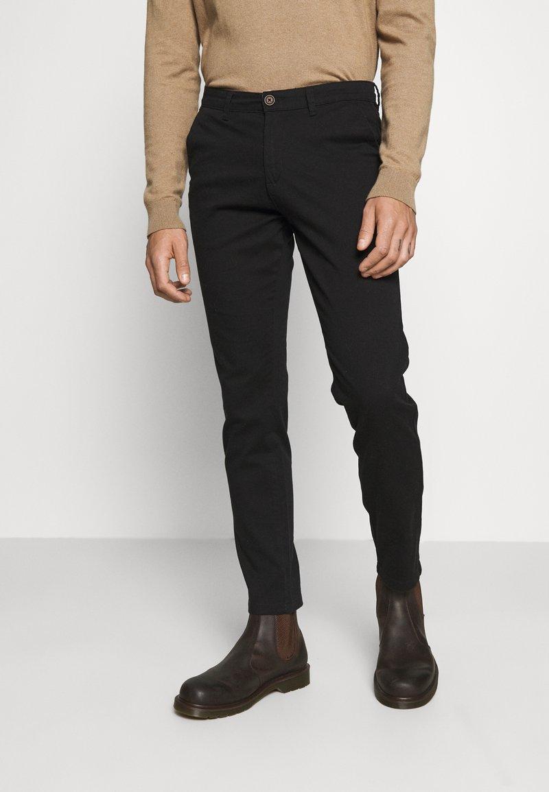 Jack & Jones - JJIROY JJDAVE - Chino kalhoty - black