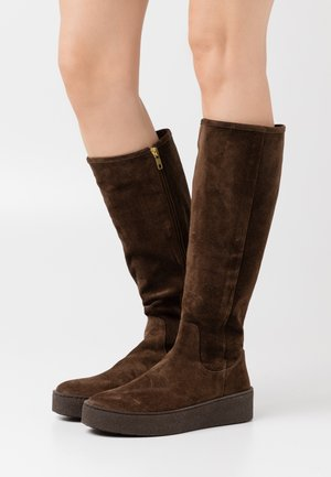 Platform boots - testa di moro