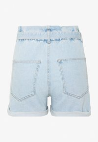 Gina Tricot - PAPERBAG DENIM SHORTS - Denim shorts - light blue - 1