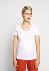 J.CREW - VINTAGE SCOOP - Basic T-shirt - white - 0