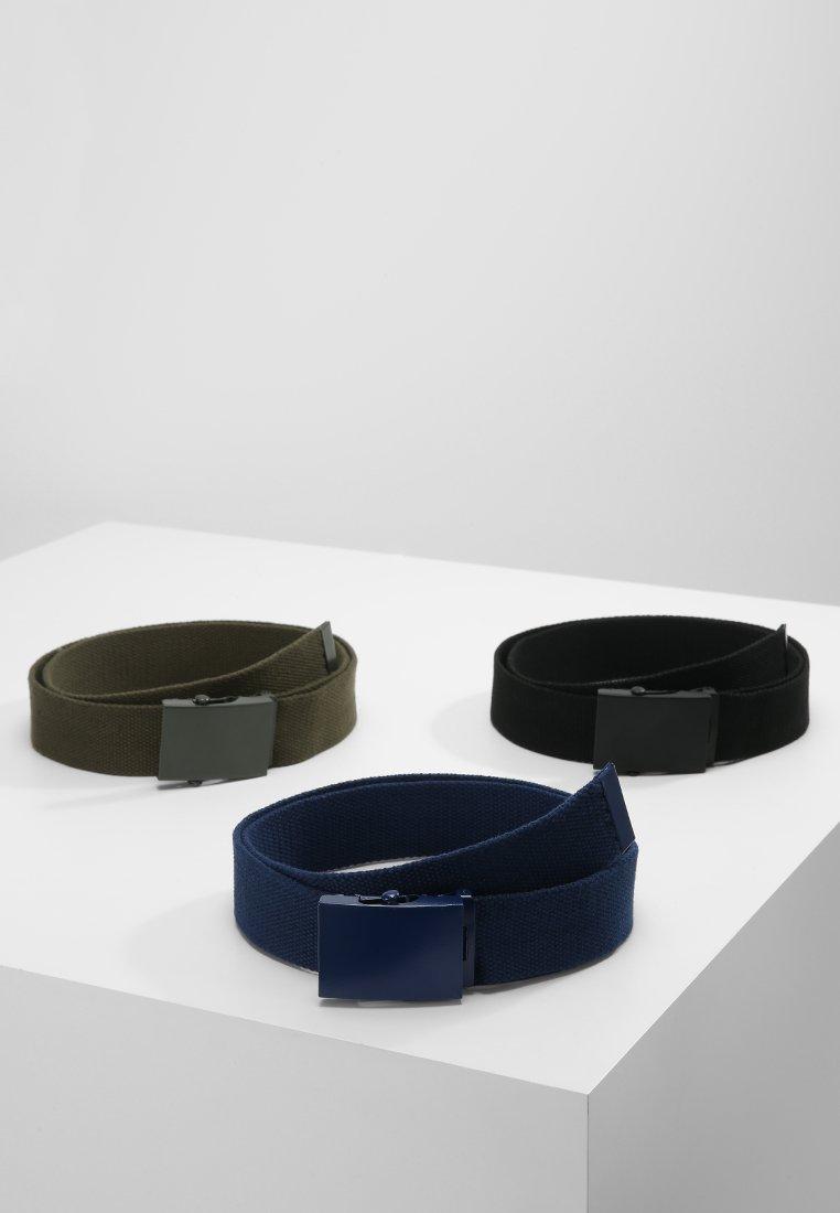 YOURTURN - 3 PACK - Pasek - black/navy/khaki