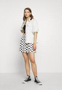 Even&Odd - A-line skirt - off-white/black - 1