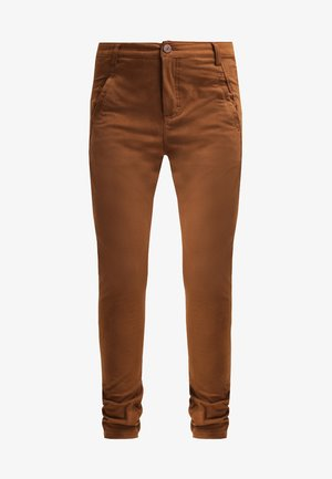 JOLIE - Trousers - rubbed cognac