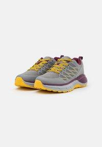 Hi-Tec - TRAIL DESTROYER WOMENS - Hiking shoes - steel/super lemon/grape wine - 1