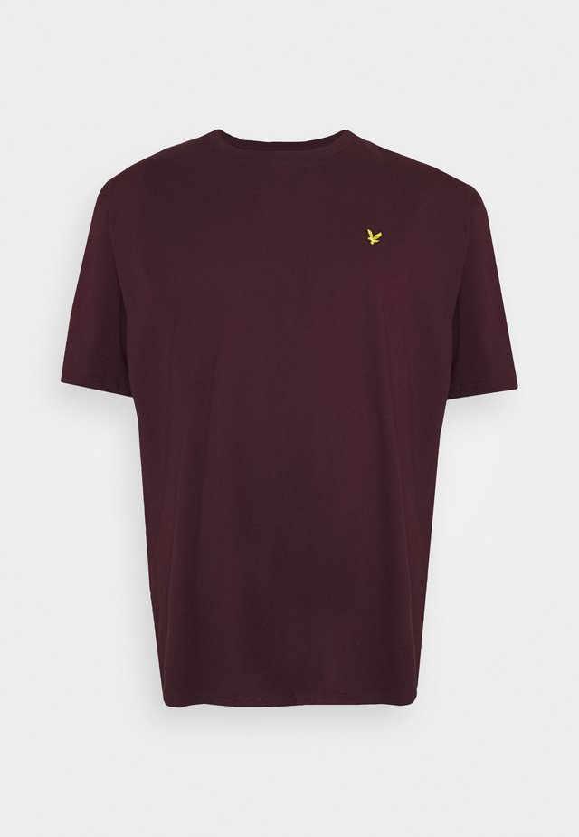 CREW NECK - T-shirt - bas - burgundy