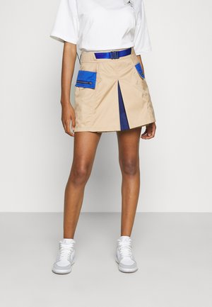 NEXT UTILITY SKIRT - Mini skirt - hemp/game royal/blue lagoon