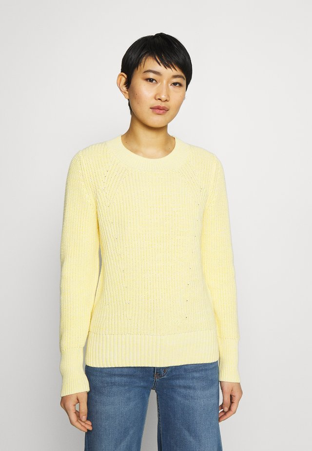 DIRECTIONAL RELAXED CREW - Jumper - bold yellow