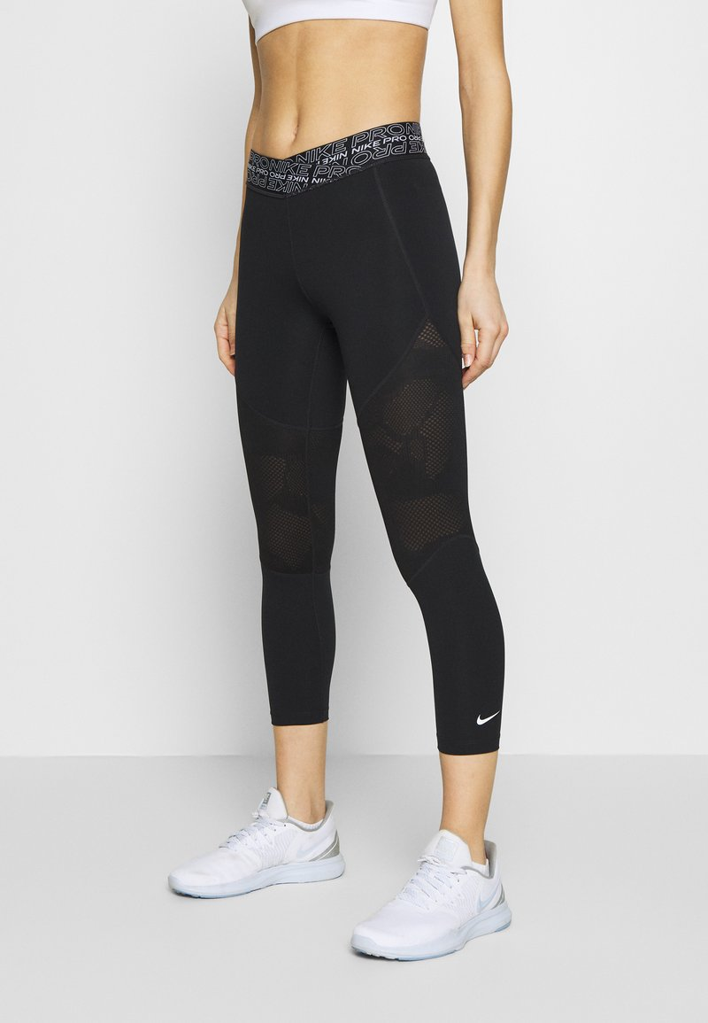 Nike Performance - CROP - Tights - black/white
