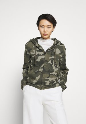 HOODED JACKET CAMO - Hettejakke - olive