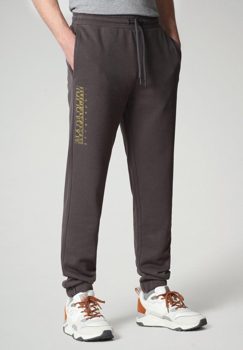 Napapijri - MALLAR - Tracksuit bottoms - dark grey solid