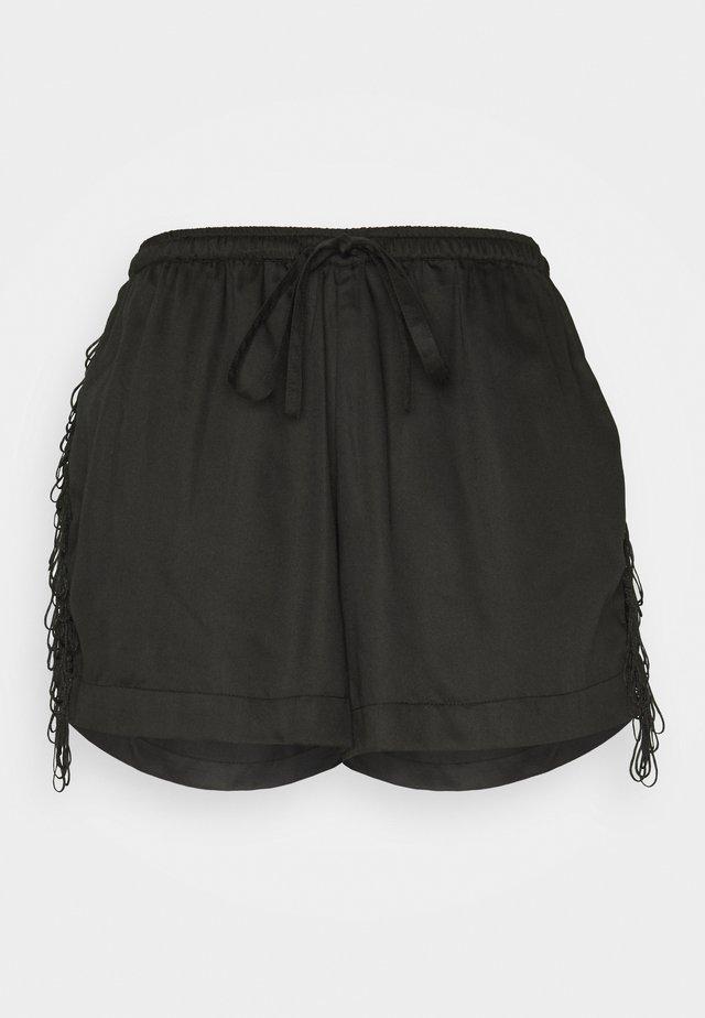 FREYA - Pyjamabroek - black