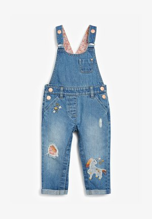 UNICORN - Dungarees - blue denim