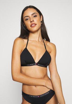 CORE SOLID LOGO TRIANGLE - Bikini top - black