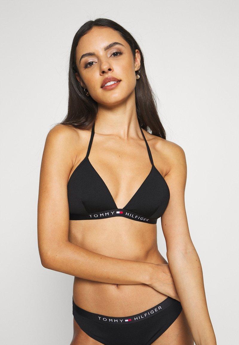 Tommy Hilfiger - CORE SOLID LOGO TRIANGLE - Bikini top - black