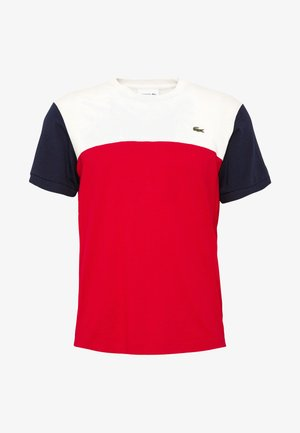 T-shirt print - rouge/farine/marine