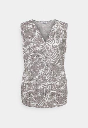 PRINTED KNOT BLOUSE PALM LEAVES - Pusero - print wool white