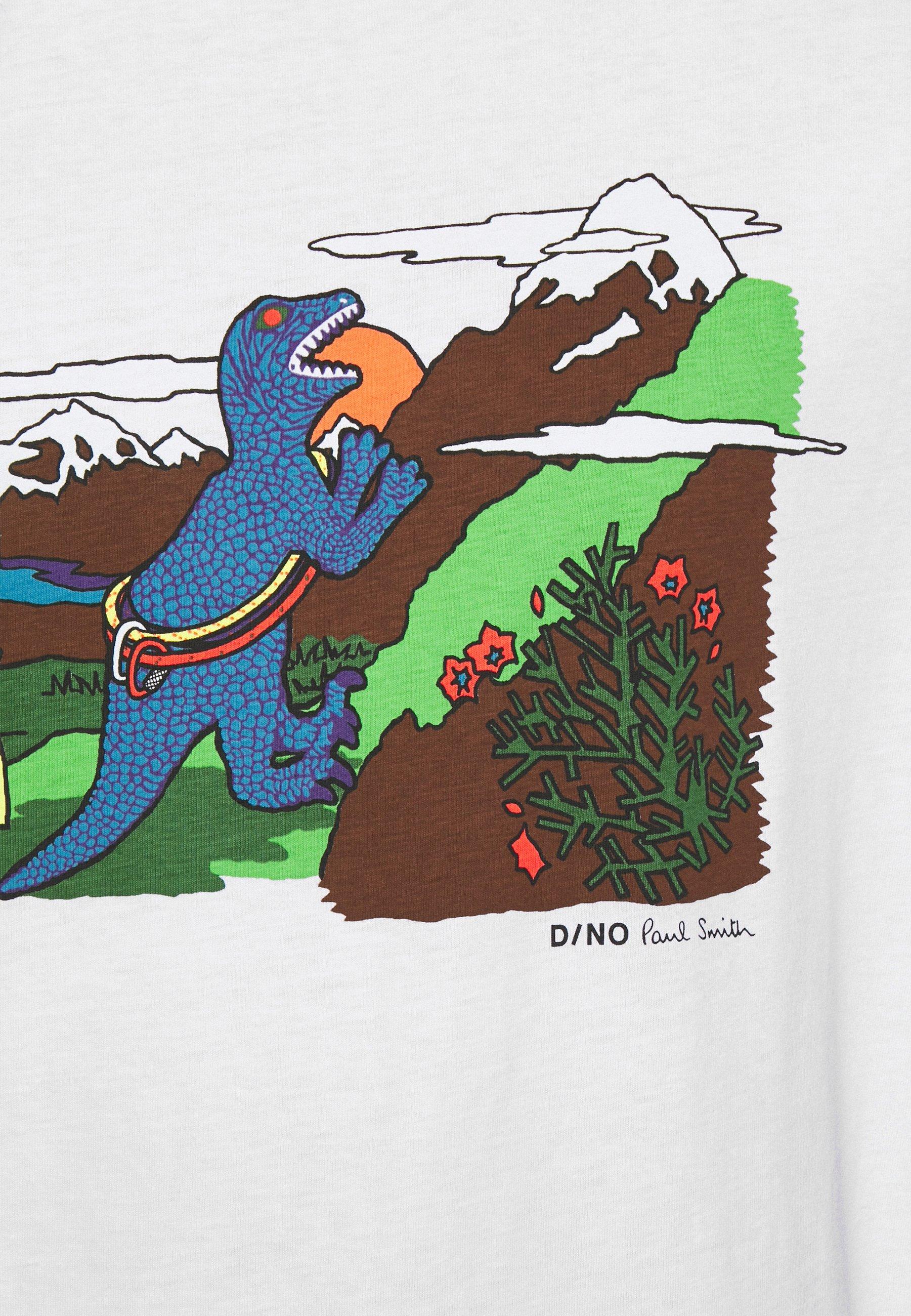 Ps Paul Smith Mens Dino Climb - T-shirt Print White