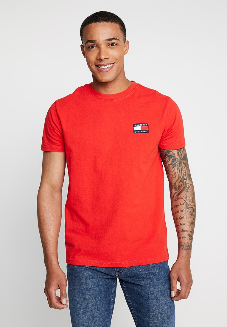 Tommy Jeans - BADGE TEE - Basic T-shirt - red