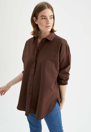 OVERSIZE FIT  - Overhemdblouse - brown