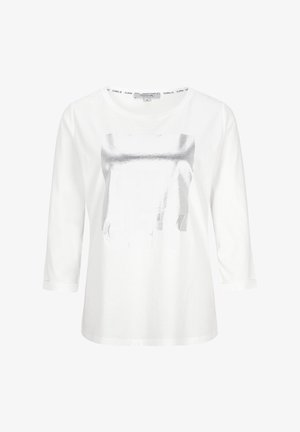 Long sleeved top - offwhite wording metallic