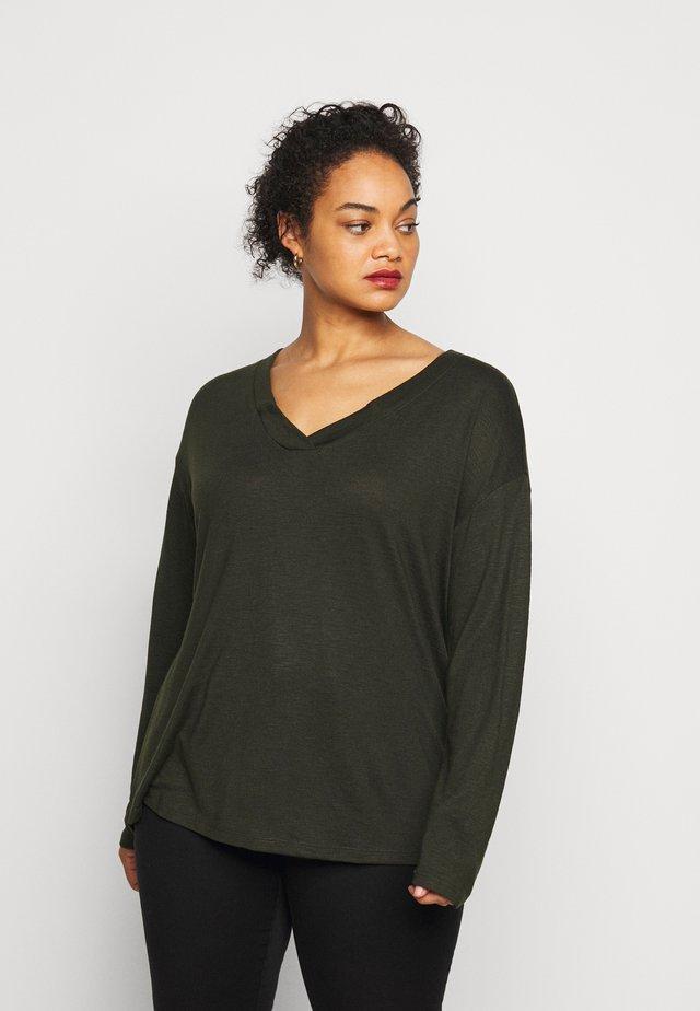 Jersey de punto - dark rosin green